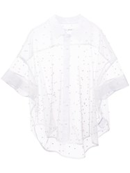 Julien David Pearl Shirt White