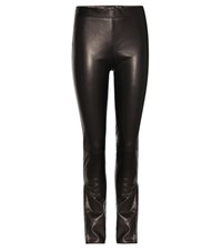 Tom Ford Coated Leather Trousers Black