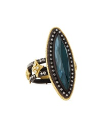 Armenta Malachite And London Blue Topaz Doublet Ring Size 6