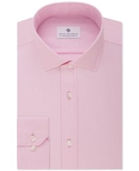 Ryan Seacrest Distinction Slim Fit Non Iron Solid Dress Shirt Pink