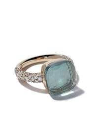 Pomellato 18Kt Rose And White Gold Small Nudo Topaz And Diamond Ring Unavailable