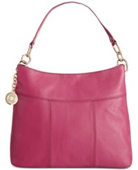 Tommy Hilfiger Th Signature Leather Small Hobo Dusty Rose