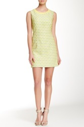 Insight Textured And Printed Shift Dress Yellow