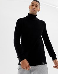 Your Turn Yourturn Knitted Polo Neck In Black