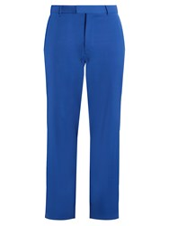 Raey Flat Front Chino Trousers Blue