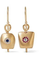 Ileana Makri Iam By Belle Medium Gold Plated Cubic Zirconia Earrings