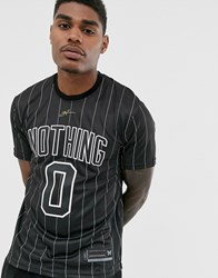 Good For Nothing Pinstripe T Shirt In Black
