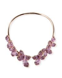 Gb Enigma 18K Rose Gold And Amethyst Butterfly Collar Necklace With Diamonds