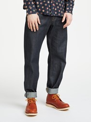 John Lewis And Co. Unwashed Selvedge Denim Jeans Blue