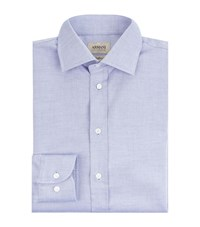 Armani Collezioni Diamond Textured Shirt Male Blue