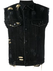 Filles A Papa 'Joy' Denim Gilet Black