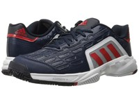 Adidas Barricade Court 2 Collegiate Navy Vivid Red White Men's Tennis Shoes Black