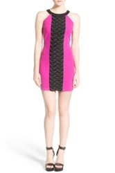 Dirty Ballerina Chain Detail Sheath Dress Pink