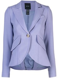 Smythe Single Breasted Blazer Purple