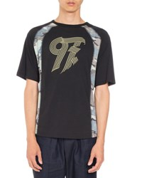 Dries Van Noten Hasko Paneled T Shirt Black