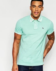 Abercrombie And Fitch Muscle Slim Fit Core Polo In Green Mint Green