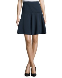Lafayette 148 New York Keana Drop Waist Fit And Flare Skirt Ink