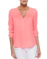 Milly Long Sleeve Blouse With Half Placket