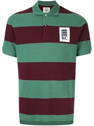 Kent And Curwen Striped Polo Shirt Green