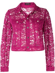 Loveless Floral Laced Jacket Purple