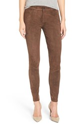Paige Women's Denim 'Verdugo' Suede Pants Dark Brown