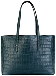 Aspinal Of London Textured Tote Bag Blue