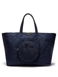 Anya Hindmarch Chubby Wink Nylon Tote Bag Dark Blue