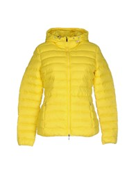 Geox Coats And Jackets Down Jackets Women Yellow