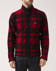 Denim And Supply Ralph Lauren Red Black Checkered Fleece Jacket