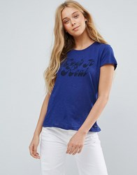 Pepe Jeans Keep It Real Print T Shirt Blue