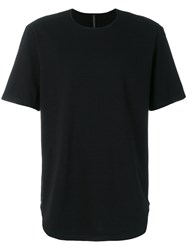 Attachment Crew Neck T Shirt Cotton Black