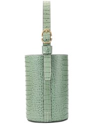 Trademark Croc Embossed Bucket Bag Green
