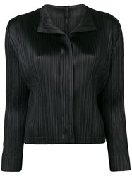 Issey Miyake Pleats Please By Fitted Jacket With Pleats Black