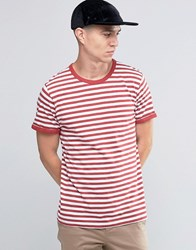 Selected Striped T Shirt Red