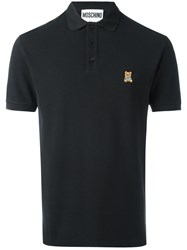 Moschino Bear Logo Polo Shirt Black