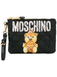 Moschino Small Quilted Pouch Black