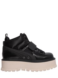 Fenty X Puma 40Mm Silk And Leather Strap Sneakers