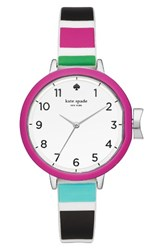 Kate Spade Women's New York Park Row Silicone Strap Watch 34Mm Silver Purple