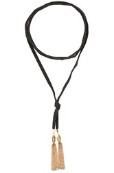 Vanessa Mooney Demi Bolo Necklace Black