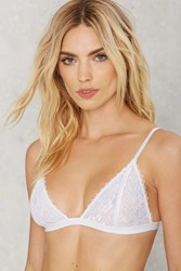 Nasty Gal Lacy Stardust Lace Bra White