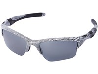 Oakley Half Jacket 2.0 Xl White Fingerprint Black Iridium Polarized Plastic Frame Sport Sunglasses