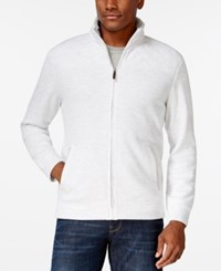 Tasso Elba Big And Tall Quilted Full Zip Sweater Only At Macy's Winter White