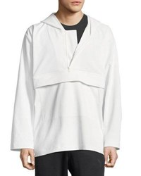 Y 3 Quarter Zip Hooded Track Jacket White