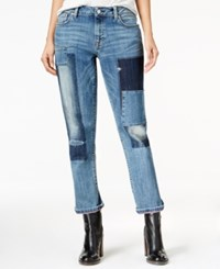 Tommy Hilfiger Rena Patchwork Wash Boyfriend Jeans Only At Macy's