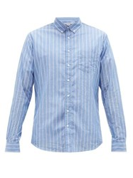 Schnayderman's Striped Cotton Voile Shirt Blue Multi