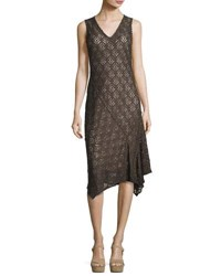 Nic Zoe First Bloom Lace Dress Dark Truffle