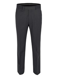 Pierre Cardin Twill Formal Suit Trousers Charcoal