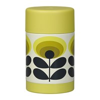 Orla Kiely Flask 500Ml 70S Yellow Flower Oval