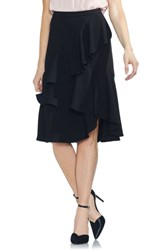 Vince Camuto Tiered Ruffle Skirt Rich Black