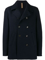 Eleventy Textured Double Breasted Jacket Blue